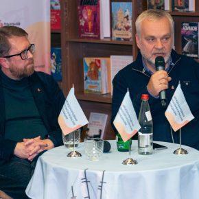 Фото и видео встречи с Андреем Геласимовым и Алексеем Варламовым